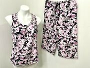 Carole Hochman Daisy Floral Pajamas Comfort 2-pc Lounge Set Size Ps With Flaw