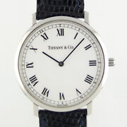 And Co. Classic Round M1510 Quartz White Dial Boys Watch Pre Owned [u0416]