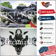 For Kawasaki Ninja Zx14r Zzr1400 06 07 08 09 10 11 Plastic Fairing Kit 3h1 Be
