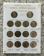 Susan B Anthony Dollar Set 14 Coins Bu/proof 1979-1981 S W/type 1and2