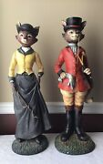 """Vintage 26"""" Winterthur Mr And Mrs Lord Fox Museum Garden Library Exclusive"""