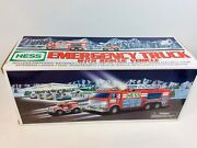 Hess 2005 Emergency Truck With Rescue Vehicle Nib Real Head Tail Lights, Sounds