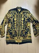 Authentic Gianni Versace Vintage Shirt Gold Size 42 Baroque New Dead-stock