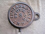 Antique Indianapolis Indiana Wood / Coal Heating / Cook Stove Lid/ Cover / Plate