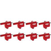 Msd Ignition Coils Pro Power Series 1999-2006 Gm Ls Truck Style Red 8pack 82868