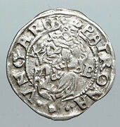 1561 Hungary King Ferdinand Madonna And Child Antique Old Silver Denar Coin I90551
