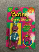 Vintage Rare - 1993 Barney Bubble Blower -new-sealed-collectible--free Shipping