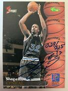 1995 Classic 5 Sport Shaquille Shaq O'neal Auto Rc Rookie Card D 225
