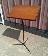 Antique Lectern Or Music Stand Wood Top 1930s Era