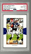 2003 Football Card 12 Tom Brady Psa 10 Patch Collection New England Patriots
