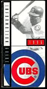1996 Chicago Cubs Official Baseball Press Tv Radio Media Guide Excellent Shape