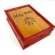 1984 Holy Bible Dove Of Peace New International Version In Wood Cedar Box