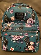 Brand New Loungefly Star Wars Darth Vader Floral Aop Mini Backpack Nwt