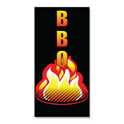 Bbq With An Image Decal Sticker Retail Store Sign