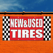 Vinyl Banner Sign Newand Used Tires Auto Body Shop Car Repair Automotive Red