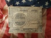 Rare Seven Dollars Continental Currency July 22 1776 Printed By Hall And Sellers