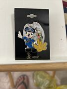 Disney Mickey Mouse And Pluto Police Officer Uniform K9 Badge 2008 Pin Security