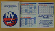 1979-80 New York Islanders Official Nhl Schedule 1st Stanley Cup Winning Year
