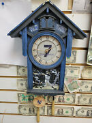 Mickey Mantle Yankees Cuckoo Clock By The Bradford Exchange Limited Edition
