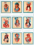 North American Indian Chiefs 1950s Cards Complete Set 50 Cards