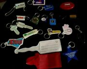 Vintage Lot/20 Advertising Key Ring Chains/luggage Tagfallsview,coors,z100,dime