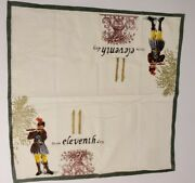 Williams Sonoma 12 Days Of Christmas Cloth Cotton Napkins 20x20 - 11th Day Only