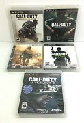 Ps3 Call Of Duty Lot Of 5 Games Black Ops Modern Warfare 2 And 3 Ghosts Advanced
