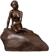 Large Denmark Mermaid Statue Replica Real Bronze Classical Sculpture Vintage Fig