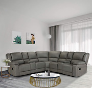 Hommoo Recliner Sofa Set Pu Leather Sofa And Couch Corner Sectional Sofa With C
