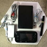 Nintendo Wii U Deluxe 32gb Console Wup-101 And Gamepad Wup-010 Mario 3d World