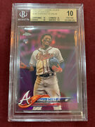 Ronald Acuna 2018 Topps Chrome Update Pink Refractor Rookie Card Bgs 10 Pristine