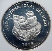 1979 Costa Rica Year Of The Child Unesco Old Silver 100 Colones Ngc Coin I85240