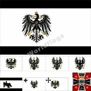 Prussia Flag 3x5ft Kingdom Of Prussia Army Royal King Crown Banner Ducal