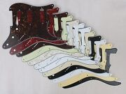 8 Hole Scratch Plate Pickguard Sss To Fit Usa/mex Stratocaster Strat 12 Colours