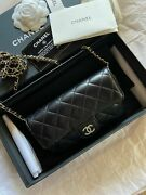 Bag Glasses Case With Classic Chain In Lambskin