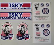 Nos Isky Racing Cams Sticker Lot Ed Iskenderian 70and039s 80and039s Hot Rod Drag Racing
