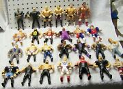 Collection Lot Of Excellent To Mint Condition Wwf Wwe Bendies Action Figures