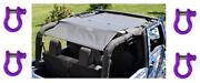 Steinjager Jk 2 Door 2007-2018 Parts For Jeeps Teddy Top And 4 D-ring Shackles