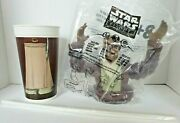 1999 Pizza Hut Star Wars Episode 1 Mace Windu Bust Top Lid W/ Cup And Straw Sw5