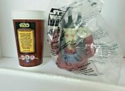 1999 Pizza Hut Star Wars Episode 1 Mute Gunray Bust Top Lid W/ Cup And Straw Sw5