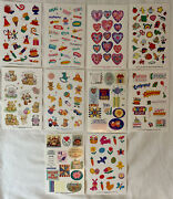 Lot Of 10 Vintage Current Sticker Sheets Bears Easter Hearts Baby Birthday Party