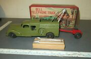 1950s Bell Telephone Truck - Hubley Kiddie Toy No. 475