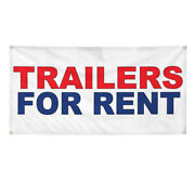 Vinyl Banner Multiple Sizes Trailers For Rent Red Blue Business Rentals Outdoor