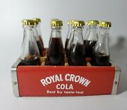 Vintage Miniature Royal Crown Bottles With Wood Crate Rare