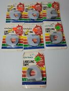 Lot Of 7 1983 Vintage Dymo Labeling Tape 3/8 X 12and039 New