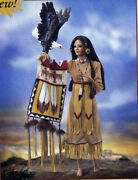 Spirit Of The Great Eagle By Cindy Mcclure Porcelain Native American Doll
