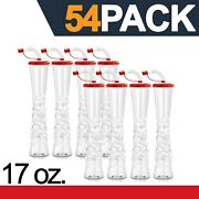 Ice Yard Cups 54 Red Cups 17 Oz. - For Margaritas, Cold Drinks, Frozen Drinks