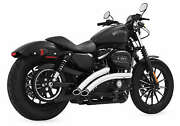 Freedom Performance Chrome With Black Tips Radical Radius Exhaust System Hd00708