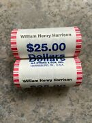 Lot 2 Rolls 2009 Presidential 1 Gold Coin William Henry Harrison 25 Roll