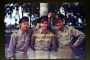 Wwii Men In Unifrom In The Mid 1940's, Kodachrome Slide Diapositive F4b